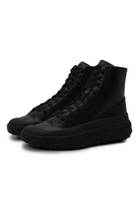 Мужские кожаные кеды gr.1p Y-3 черного цвета, арт. GZ9155/M | Фото 1 (Подошва: Массивная; Материал внутренний: Натуральная кожа)