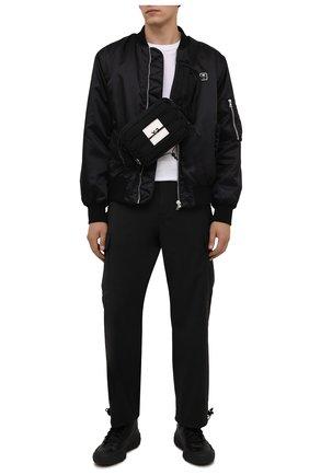 Мужские кожаные кеды gr.1p Y-3 черного цвета, арт. GZ9155/M | Фото 2 (Подошва: Массивная; Материал внутренний: Натуральная кожа)