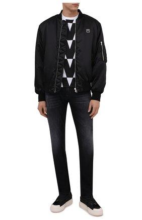 Мужские текстильные кеды ajatu Y-3 черного цвета, арт. H05625/M | Фото 2 (Материал внешний: Текстиль; Материал внутренний: Натуральная кожа; Подошва: Массивная)