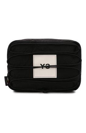 Мужская текстильная поясная сумка Y-3 черного цвета, арт. HA6518/M | Фото 1 (Ремень/цепочка: На ремешке; Материал: Текстиль)