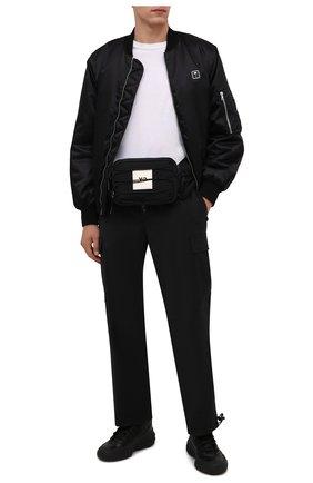 Мужская текстильная поясная сумка Y-3 черного цвета, арт. HA6518/M | Фото 2 (Ремень/цепочка: На ремешке; Материал: Текстиль)