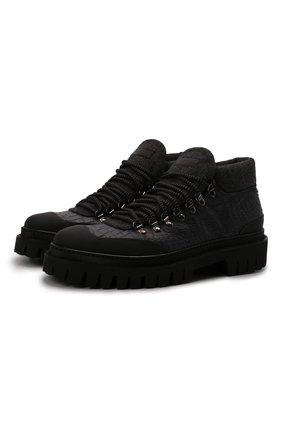 Мужские кожаные ботинки BARRETT черного цвета, арт. ASPEN-10969.18/GUMMY | Фото 1 (Материал внутренний: Текстиль; Подошва: Массивная; Мужское Кросс-КТ: Ботинки-обувь, Хайкеры-обувь)
