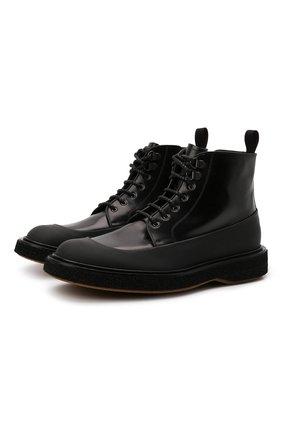 Мужские кожаные ботинки BARRETT черного цвета, арт. S0H0-009.1/GUM | Фото 1 (Материал внутренний: Натуральная кожа; Мужское Кросс-КТ: Ботинки-обувь; Подошва: Плоская)
