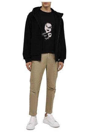 Мужской хлопковая толстовка YOHJI YAMAMOTO черного цвета, арт. HX-T09-074 | Фото 2 (Материал внешний: Хлопок; Длина (для топов): Стандартные; Рукава: Длинные; Мужское Кросс-КТ: Толстовка-одежда; Стили: Спорт-шик)
