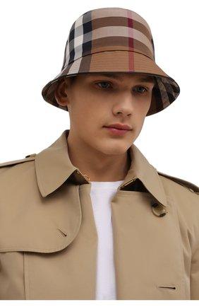 Мужская хлопковая панама BURBERRY бежевого цвета, арт. 8041616 | Фото 2 (Материал: Хлопок, Текстиль)