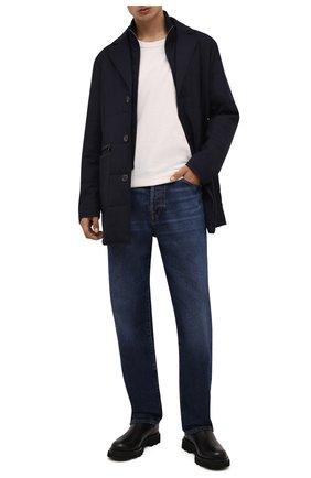 Мужская утепленная куртка CANALI синего цвета, арт. 010379/SG02130 | Фото 2 (Материал подклада: Синтетический материал; Материал внешний: Шерсть; Кросс-КТ: Куртка; Рукава: Длинные; Длина (верхняя одежда): До середины бедра; Мужское Кросс-КТ: утепленные куртки; Стили: Классический)