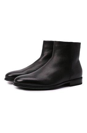 Мужские кожаные сапоги DOUCAL'S черного цвета, арт. DU1764AUGUUM019NN00 | Фото 1 (Материал утеплителя: Натуральный мех; Мужское Кросс-КТ: Сапоги-обувь, зимние сапоги; Подошва: Плоская)