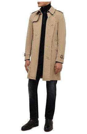 Мужские кожаные сапоги DOUCAL'S черного цвета, арт. DU1764AUGUUM019NN00 | Фото 2 (Материал утеплителя: Натуральный мех; Мужское Кросс-КТ: Сапоги-обувь, зимние сапоги; Подошва: Плоская)
