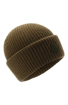 Мужская шерстяная шапка 2 moncler 1952 MONCLER GENIUS хаки цвета, арт. G2-092-3B000-09-M1115 | Фото 1 (Материал: Шерсть; Кросс-КТ: Трикотаж)