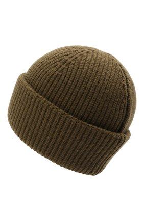 Мужская шерстяная шапка 2 moncler 1952 MONCLER GENIUS хаки цвета, арт. G2-092-3B000-09-M1115 | Фото 2 (Материал: Шерсть; Кросс-КТ: Трикотаж)