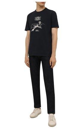 Мужская хлопковая футболка C.P. COMPANY черного цвета, арт. 11CMTS352A-005621W | Фото 2 (Рукава: Короткие; Материал внешний: Хлопок; Длина (для топов): Стандартные; Принт: С принтом)