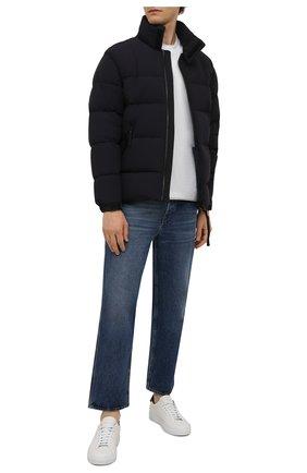 Мужская пуховая куртка ASPESI темно-синего цвета, арт. W1 I 1I31 L589 | Фото 2 (Длина (верхняя одежда): Короткие; Материал утеплителя: Пух и перо; Материал подклада: Синтетический материал; Рукава: Длинные; Материал внешний: Синтетический материал; Кросс-КТ: Куртка; Мужское Кросс-КТ: пуховик-короткий; Стили: Кэжуэл)