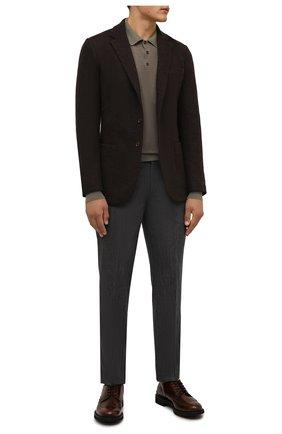 Мужские кожаные дерби TOD'S коричневого цвета, арт. XXM06H0EP60AKT | Фото 2 (Материал внутренний: Натуральная кожа; Стили: Классический; Мужское Кросс-КТ: Броги-обувь)