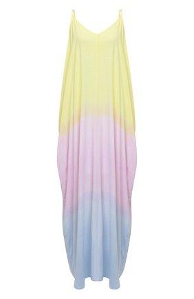 Женское платье из вискозы ELECTRIC&ROSE разноцветного цвета, арт. LFJP19-SUNSET   Фото 1 (Материал внешний: Вискоза; Длина Ж (юбки, платья, шорты): Макси; Стили: Романтичный; Случай: Повседневный; Женское Кросс-КТ: Сарафаны, Платье-одежда, Платье-пляжная одежда; Кросс-КТ: Трикотаж)