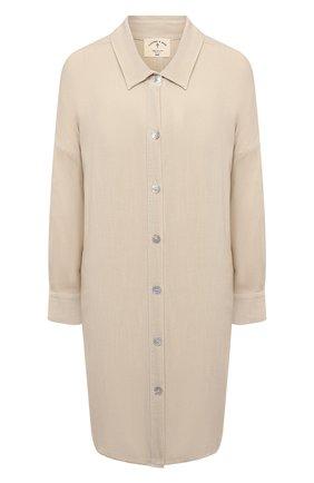 Женская рубашка из вискозы ELECTRIC&ROSE светло-бежевого цвета, арт. LFCV39   Фото 1 (Длина (для топов): Удлиненные; Материал внешний: Вискоза; Рукава: Длинные; Стили: Спорт-шик; Принт: Без принта; Женское Кросс-КТ: Рубашка-одежда)