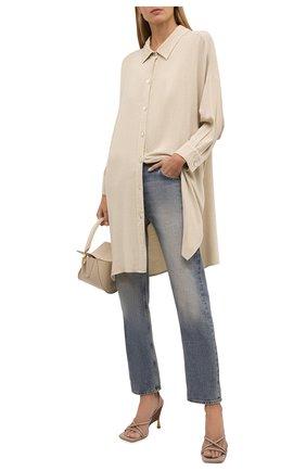 Женская рубашка из вискозы ELECTRIC&ROSE светло-бежевого цвета, арт. LFCV39   Фото 2 (Длина (для топов): Удлиненные; Материал внешний: Вискоза; Рукава: Длинные; Стили: Спорт-шик; Принт: Без принта; Женское Кросс-КТ: Рубашка-одежда)