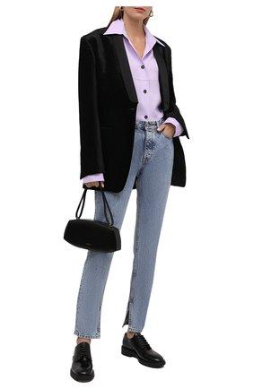 Женская кожаные ботинки GIANVITO ROSSI черного цвета, арт. G25215.20G0M.SRANER0 | Фото 2 (Материал внутренний: Натуральная кожа; Каблук высота: Низкий; Подошва: Платформа)