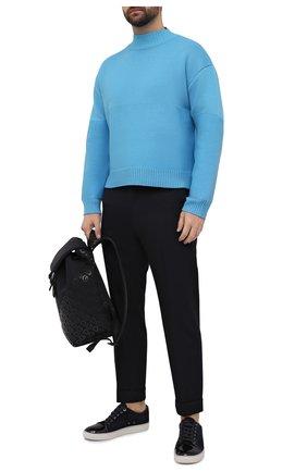 Мужские замшевые кеды LANVIN темно-синего цвета, арт. FM-SKDBB1-VBAL-P15 | Фото 2
