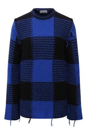 Женский свитер REDVALENTINO синего цвета, арт. WR0KC10R/66Q | Фото 1 (Длина (для топов): Стандартные; Рукава: Длинные; Материал внешний: Синтетический материал; Стили: Гламурный; Женское Кросс-КТ: Свитер-одежда)