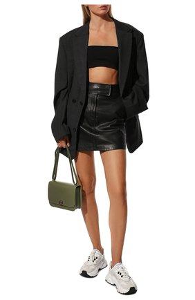 Женские комбинированные кроссовки daymaster DOLCE & GABBANA кремвого цвета, арт. CK1908/AQ040 | Фото 2 (Материал внутренний: Натуральная кожа; Материал внешний: Текстиль; Подошва: Платформа)