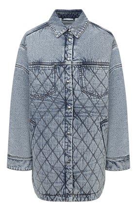 Женская джинсовая куртка IRO голубого цвета, арт. WP100ELEMY   Фото 1 (Материал подклада: Синтетический материал; Рукава: Длинные; Длина (верхняя одежда): До середины бедра; Материал внешний: Хлопок; Стили: Кэжуэл; Кросс-КТ: Деним, Куртка)