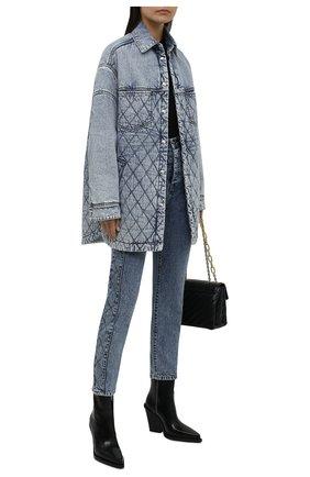 Женская джинсовая куртка IRO голубого цвета, арт. WP100ELEMY   Фото 2 (Материал подклада: Синтетический материал; Рукава: Длинные; Длина (верхняя одежда): До середины бедра; Материал внешний: Хлопок; Стили: Кэжуэл; Кросс-КТ: Деним, Куртка)