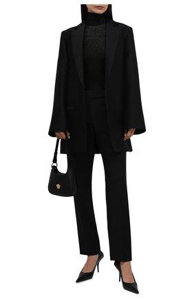 Женская водолазка из вискозы VALENTINO черного цвета, арт. WB0KC27K6RY   Фото 2 (Материал внешний: Вискоза; Длина (для топов): Стандартные; Рукава: Длинные; Стили: Гламурный; Женское Кросс-КТ: Водолазка-одежда)