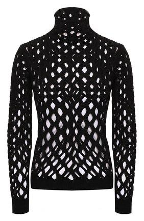 Женская водолазка из вискозы VALENTINO черного цвета, арт. WB0KC27M6SN   Фото 1 (Рукава: Длинные; Материал внешний: Вискоза; Длина (для топов): Стандартные; Стили: Гламурный; Женское Кросс-КТ: Водолазка-одежда)