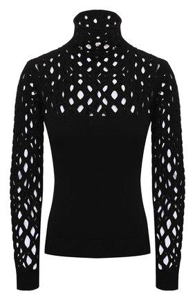 Женская водолазка из вискозы VALENTINO черного цвета, арт. WB0KCC426SN   Фото 1 (Рукава: Длинные; Длина (для топов): Стандартные; Материал внешний: Вискоза; Стили: Гламурный; Женское Кросс-КТ: Водолазка-одежда)
