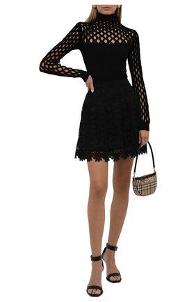 Женская водолазка из вискозы VALENTINO черного цвета, арт. WB0KCC426SN   Фото 2 (Рукава: Длинные; Длина (для топов): Стандартные; Материал внешний: Вискоза; Стили: Гламурный; Женское Кросс-КТ: Водолазка-одежда)