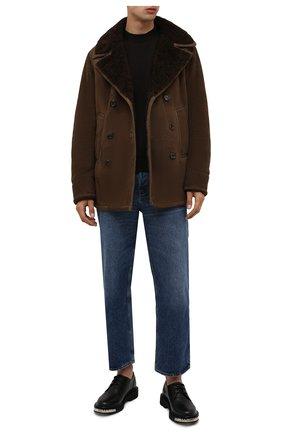 Мужская дубленка RALPH LAUREN коричневого цвета, арт. 790846229 | Фото 2 (Длина (верхняя одежда): Короткие; Рукава: Длинные; Материал внешний: Натуральный мех; Стили: Кэжуэл)