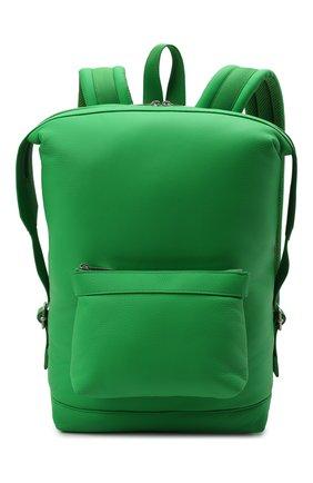 Мужской кожаный рюкзак classic pillow BOTTEGA VENETA зеленого цвета, арт. 658066/V00Z3 | Фото 1 (Материал: Натуральная кожа)