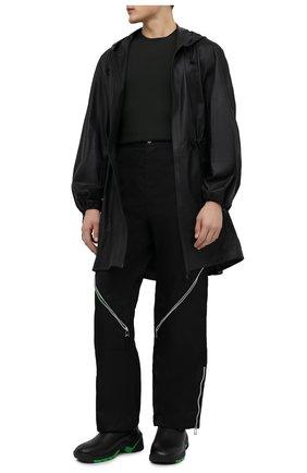 Мужские кожаные кроссовки flash BOTTEGA VENETA черного цвета, арт. 667069/VBSD0 | Фото 2 (Подошва: Массивная; Материал внутренний: Натуральная кожа, Текстиль; Стили: Гранж)