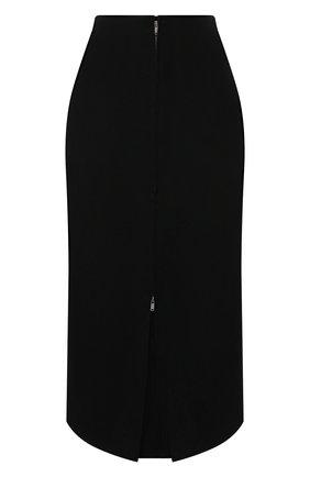 Женская шерстяная юбка JIL SANDER серого цвета, арт. JSWT355310-WT202500   Фото 1 (Материал внешний: Шерсть; Стили: Минимализм; Длина Ж (юбки, платья, шорты): Миди; Материал подклада: Вискоза; Женское Кросс-КТ: Юбка-одежда)