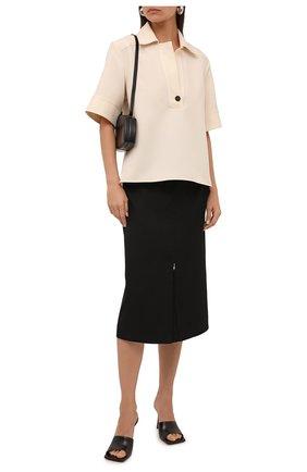 Женская шерстяная юбка JIL SANDER серого цвета, арт. JSWT355310-WT202500   Фото 2 (Материал внешний: Шерсть; Стили: Минимализм; Длина Ж (юбки, платья, шорты): Миди; Материал подклада: Вискоза; Женское Кросс-КТ: Юбка-одежда)