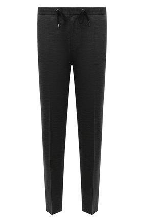 Мужские шерстяные брюки BOSS серого цвета, арт. 50458743 | Фото 1 (Длина (брюки, джинсы): Стандартные; Материал внешний: Шерсть; Случай: Повседневный; Стили: Кэжуэл)