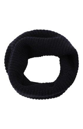 Мужской шерстяной шарф-снуд INVERNI темно-синего цвета, арт. 5308 SM   Фото 1 (Материал: Шерсть; Кросс-КТ: шерсть)