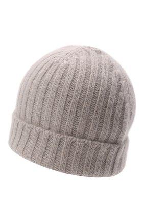 Мужская кашемировая шапка ALLUDE светло-серого цвета, арт. 215/60630 | Фото 2 (Материал: Шерсть, Кашемир; Кросс-КТ: Трикотаж)