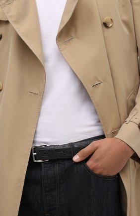Мужской ремень из кожи каймана LORO PIANA темно-серого цвета, арт. FAI1156/CYAC | Фото 2 (Материал: Экзотическая кожа)