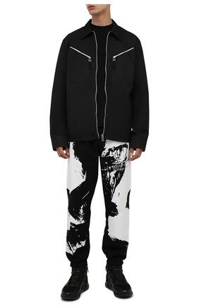 Мужские кожаные кроссовки DOUCAL'S черного цвета, арт. DU2902JUSTPM533NN00 | Фото 2 (Материал утеплителя: Натуральный мех; Подошва: Массивная; Стили: Классический)