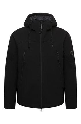 Мужская утепленная куртка C.P. COMPANY черного цвета, арт. 11CM0W025A-004117A | Фото 1 (Материал подклада: Синтетический материал; Материал внешний: Синтетический материал; Рукава: Длинные; Длина (верхняя одежда): Короткие; Кросс-КТ: Куртка; Мужское Кросс-КТ: утепленные куртки; Стили: Гранж)