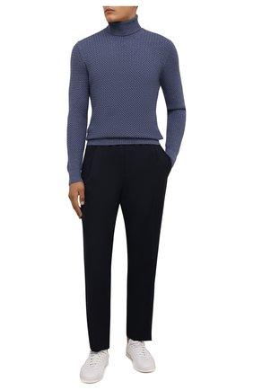 Мужской шерстяной свитер GRAN SASSO синего цвета, арт. 57157/14280 | Фото 2 (Длина (для топов): Стандартные; Материал внешний: Шерсть; Рукава: Длинные; Мужское Кросс-КТ: Свитер-одежда; Принт: Без принта)