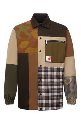 Мужская хлопковая куртка DSQUARED2 разноцветного цвета, арт. S74AM1180/S41794 | Фото 1 (Длина (верхняя одежда): До середины бедра; Рукава: Длинные; Материал внешний: Хлопок; Материал подклада: Синтетический материал; Кросс-КТ: Куртка, Ветровка; Стили: Гранж)
