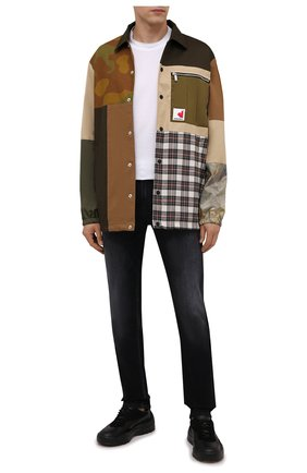Мужская хлопковая куртка DSQUARED2 разноцветного цвета, арт. S74AM1180/S41794 | Фото 2 (Длина (верхняя одежда): До середины бедра; Рукава: Длинные; Материал внешний: Хлопок; Материал подклада: Синтетический материал; Кросс-КТ: Куртка, Ветровка; Стили: Гранж)