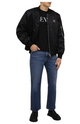 Мужская хлопковая футболка VALENTINO черного цвета, арт. WV0MG10W7SS | Фото 2 (Рукава: Короткие; Длина (для топов): Стандартные; Материал внешний: Хлопок; Принт: С принтом; Стили: Кэжуэл)