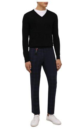 Мужской шерстяной пуловер IL BORGO CASHMERE черного цвета, арт. 54-1207G0 | Фото 2 (Рукава: Длинные; Длина (для топов): Стандартные; Материал внешний: Шерсть; Мужское Кросс-КТ: Пуловеры; Вырез: V-образный; Принт: Без принта; Стили: Кэжуэл)