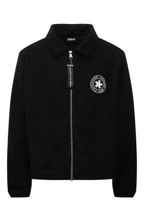 Мужская куртка COMME DES FUCKDOWN черного цвета, арт. CDFU1327 | Фото 1 (Материал внешний: Синтетический материал; Материал подклада: Синтетический материал; Кросс-КТ: Куртка, Ветровка; Рукава: Длинные; Длина (верхняя одежда): Короткие; Стили: Гранж)