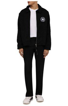 Мужская куртка COMME DES FUCKDOWN черного цвета, арт. CDFU1327 | Фото 2 (Материал внешний: Синтетический материал; Материал подклада: Синтетический материал; Кросс-КТ: Куртка, Ветровка; Рукава: Длинные; Длина (верхняя одежда): Короткие; Стили: Гранж)
