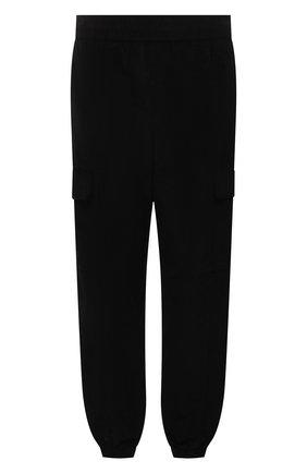 Мужские хлопковые джоггеры MARCELO BURLON черного цвета, арт. CMCA173F21FAB001 | Фото 1 (Материал внешний: Хлопок; Силуэт М (брюки): Джоггеры, Карго; Мужское Кросс-КТ: Брюки-трикотаж; Стили: Спорт-шик; Длина (брюки, джинсы): Стандартные)