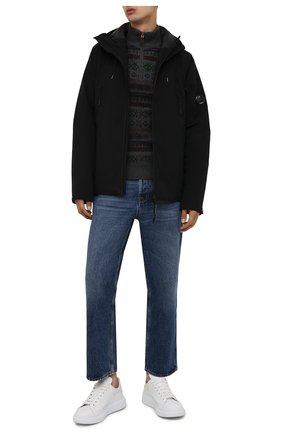 Мужской свитер из шерсти и кашемира POLO RALPH LAUREN серого цвета, арт. 710850020 | Фото 2 (Длина (для топов): Стандартные; Рукава: Длинные; Материал внешний: Шерсть; Мужское Кросс-КТ: Свитер-одежда; Принт: С принтом)